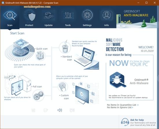 GridinSoft Anti-Malware 4.1.59 Crack + Serial Key 2020 Free
